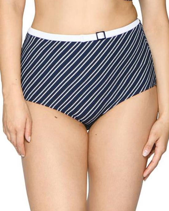Плавки Curvy Kate Sailor Girl High Waist Bikini Brief (Navy Stripe) XL-16 фото