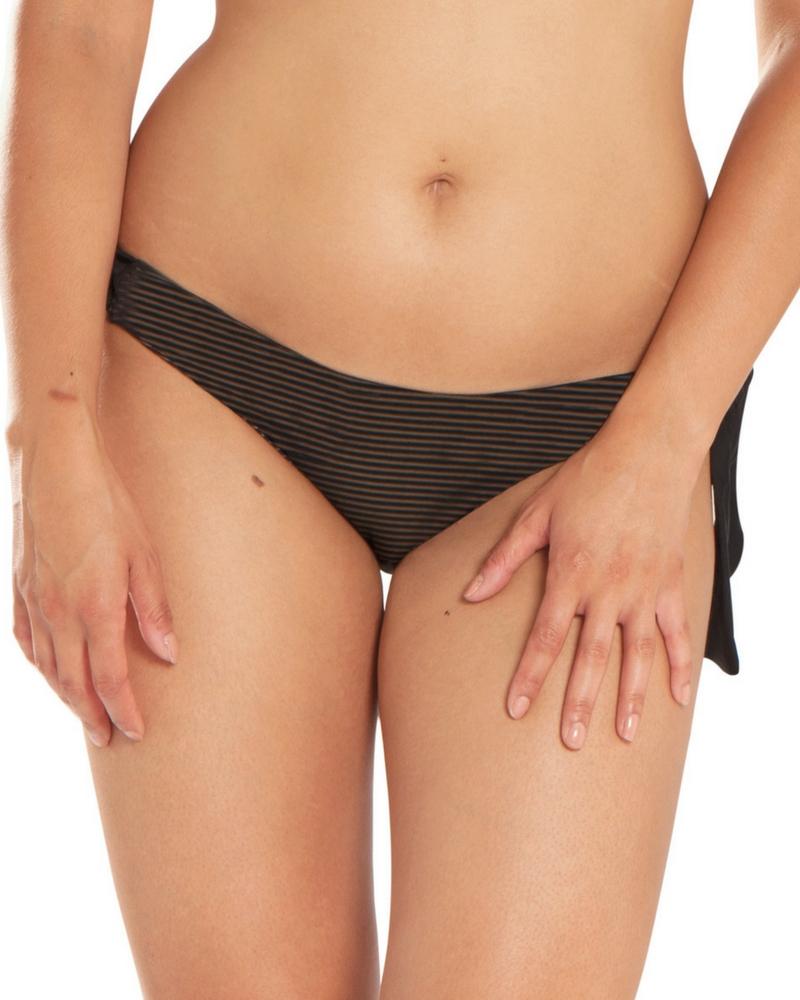 Плавки Curvy Kate Onyx Stripe Tie Side Brief (Black) 2XL-18 фото
