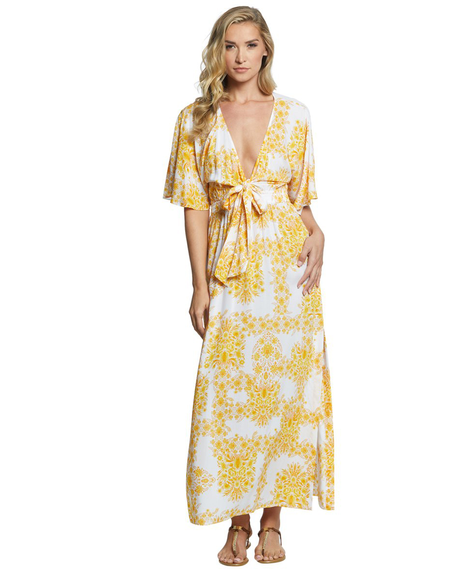 Платье Seafolly Sunflower Maxi Dress (Buttercup) M-12 фото