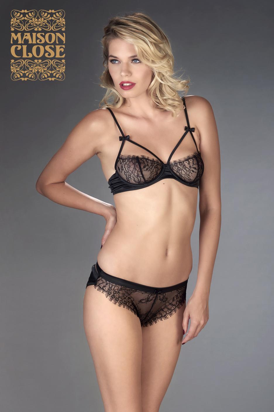 Бюстгальтер Villa Satine Naked Breast Bra (Black) 80C фото