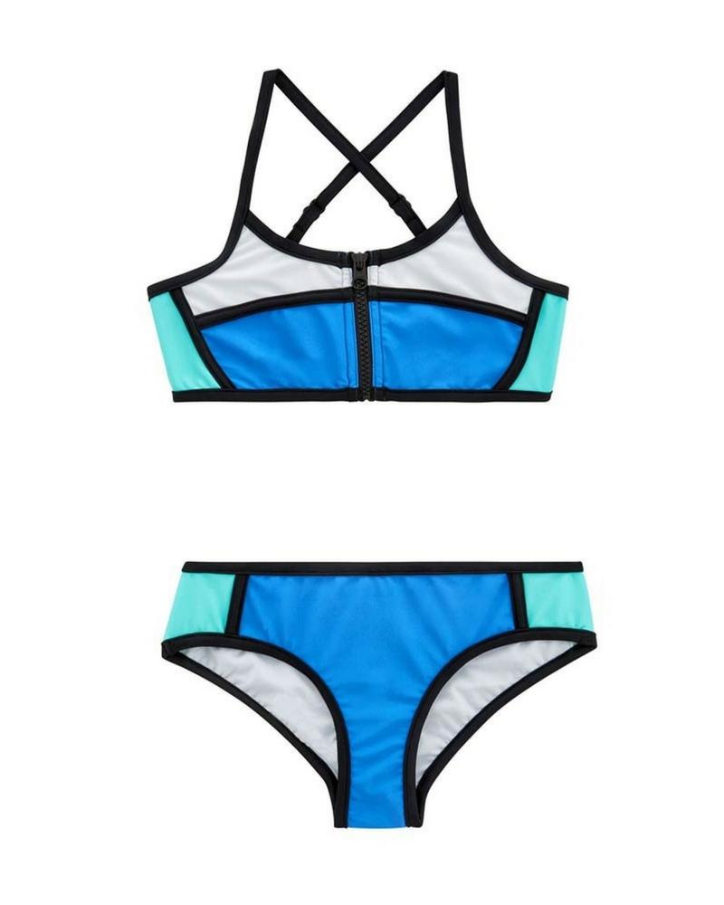 Купальник Seafolly Sapphire Coast Colour Block Tankini (Hawaii Blue) 10 фото