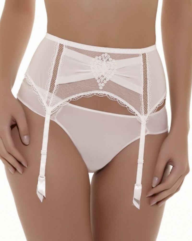 Elixir Attrape Coeur garter belt (White) S-10 фото