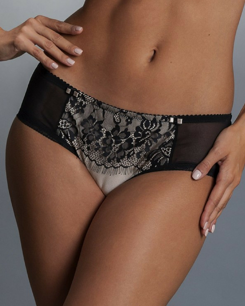 Comexim Beauty Brief (Black/Nude) XS-8 фото