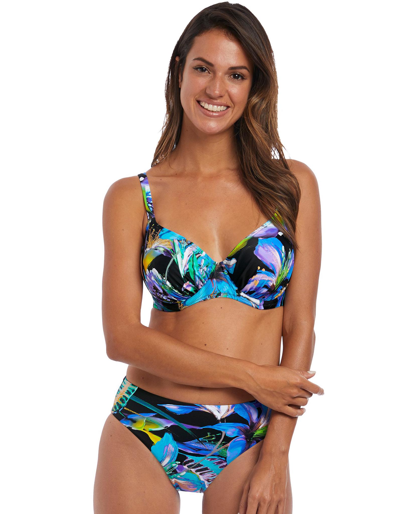 Верх купальника Fantasie Paradise Bay Full Cup Bikini Top (Aqua Multi) 75HH фото