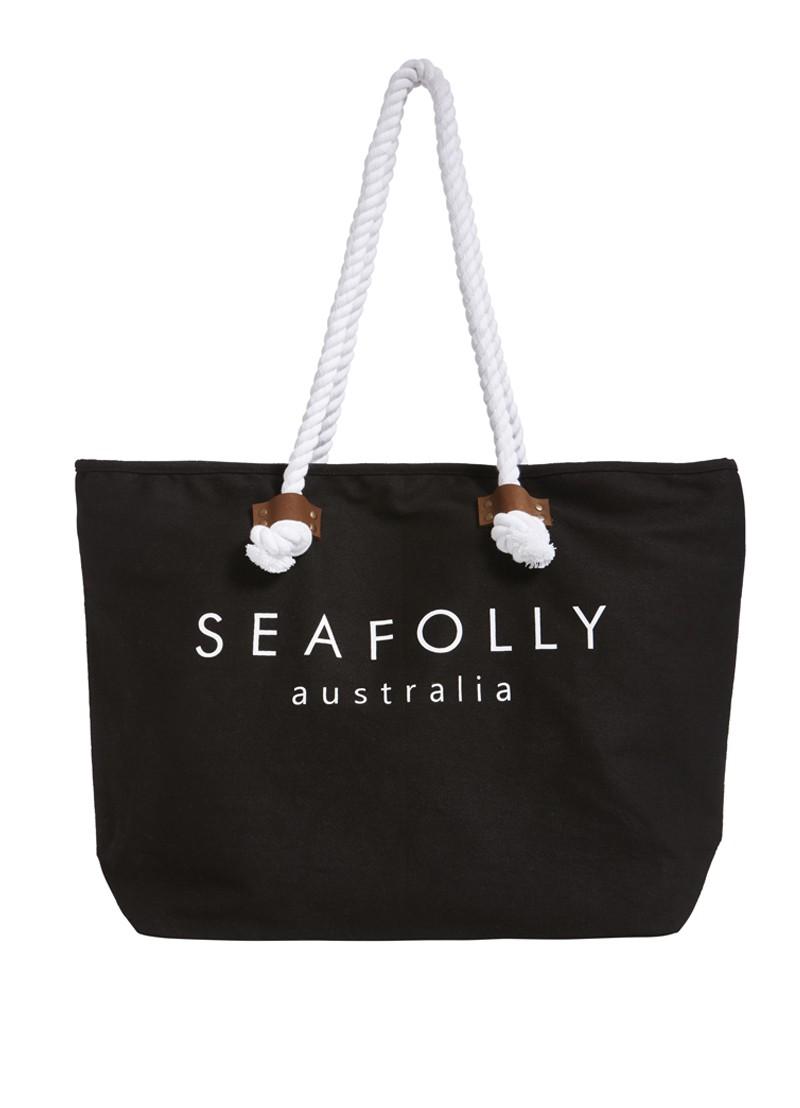 Сумка Seafolly Ship Sail Tote (Black) OS фото