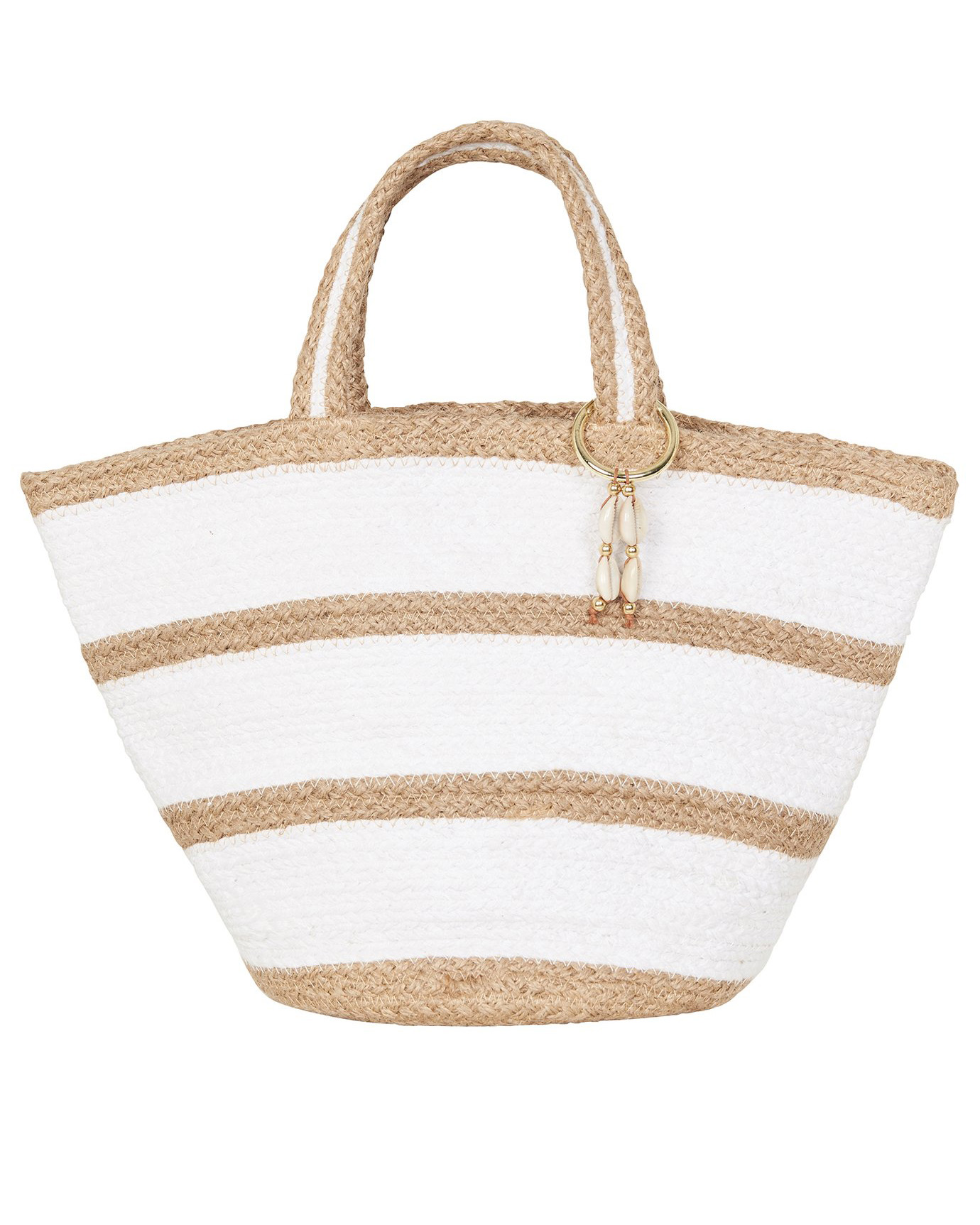 Сумка Seafolly Stripe Jute Basket (Natural) OS фото