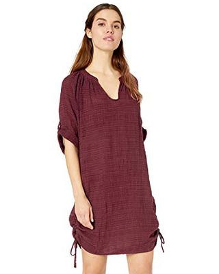 Платье Seafolly Beach Basics Textured Gauze Cover Up (Plum) S-10 фото