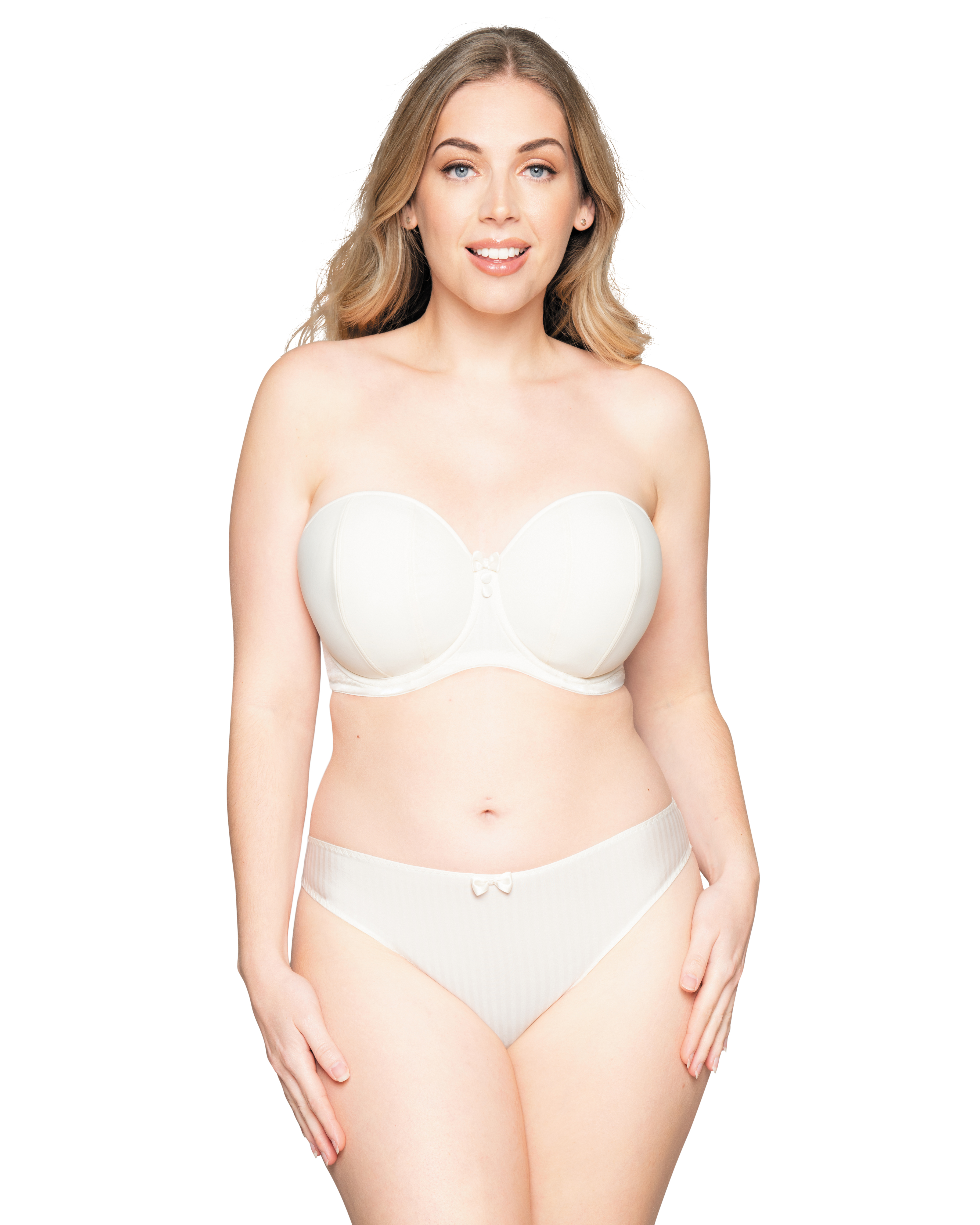 Curvy Kate Luxe Strapless Bra (Ivory) 80E фото