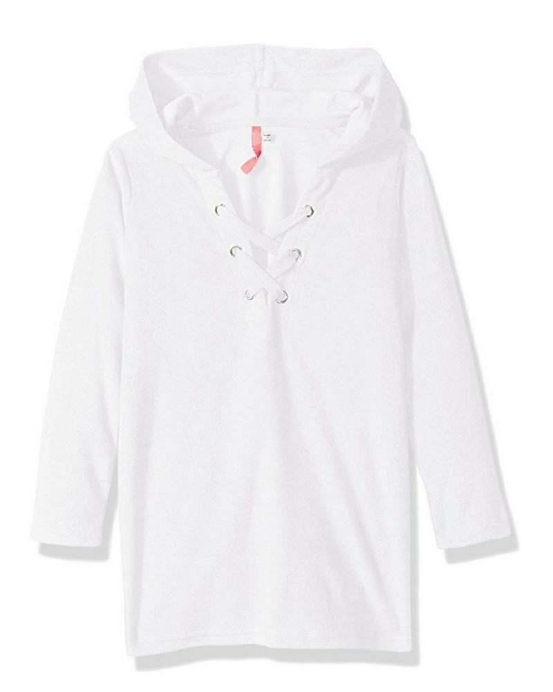 Туника Seafolly Summer Essent App Towelling Hoodie (White) 14 фото