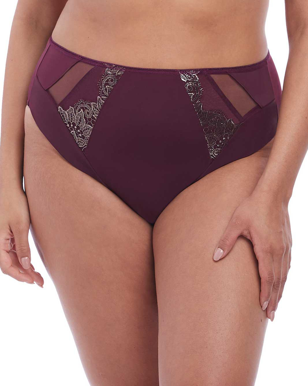 Elomi Eugenie Matching High Leg Brief (Gilded Berry) M-12 фото
