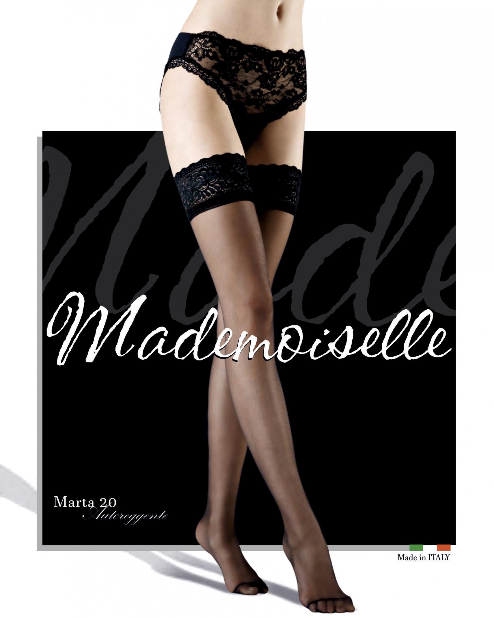Чулки Mademoiselle Marta 20 Den (Miele) 1/2 фото