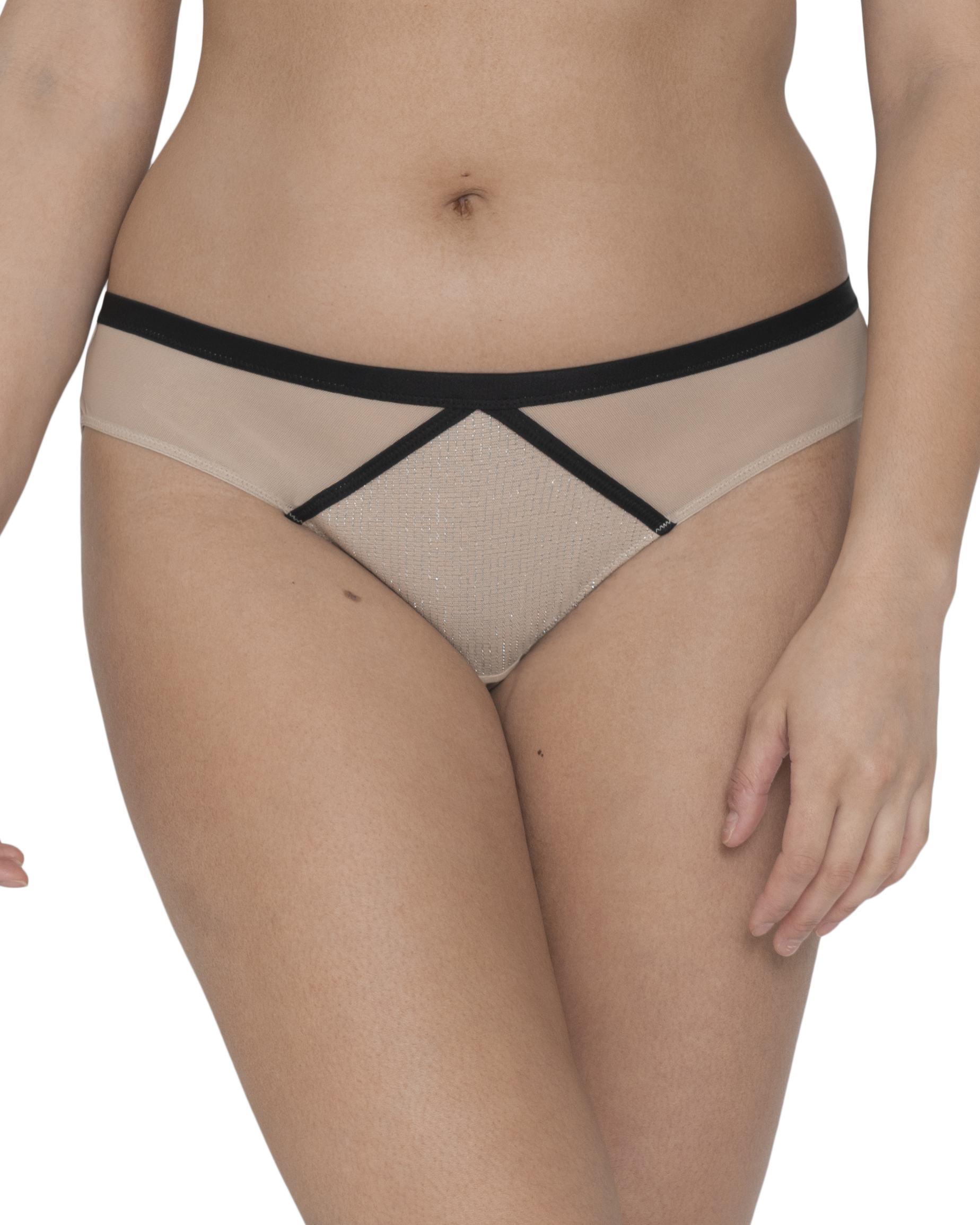 Curvy Kate Sparks Fly Brazilian Brief (Latte/Silver) M-12 фото