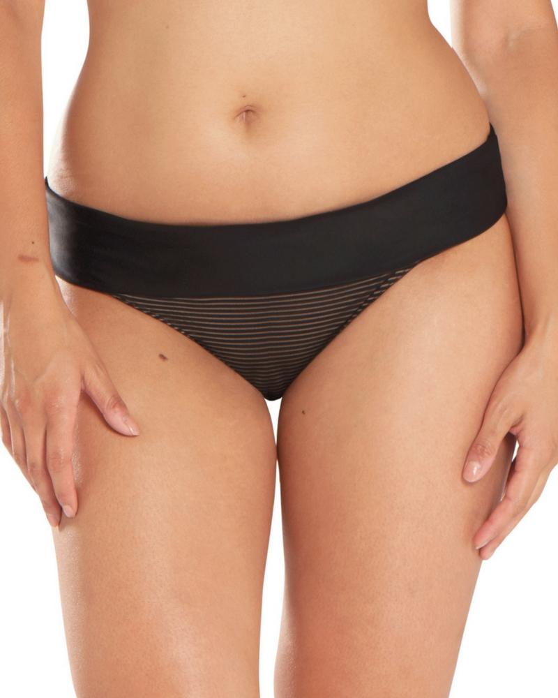 Плавки Curvy Kate Onyx Stripe Fold Over Brief (Black) 3XL-20 фото