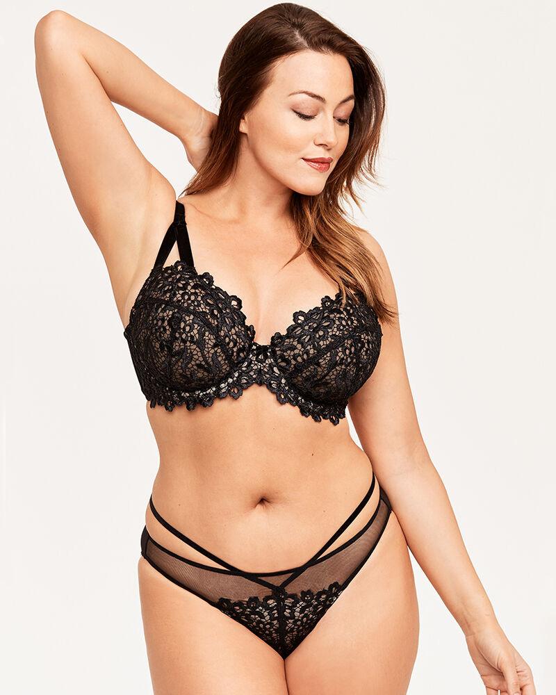 Dita Von Teese Dahlia Balconett Bra (Black/Nude) 80B фото